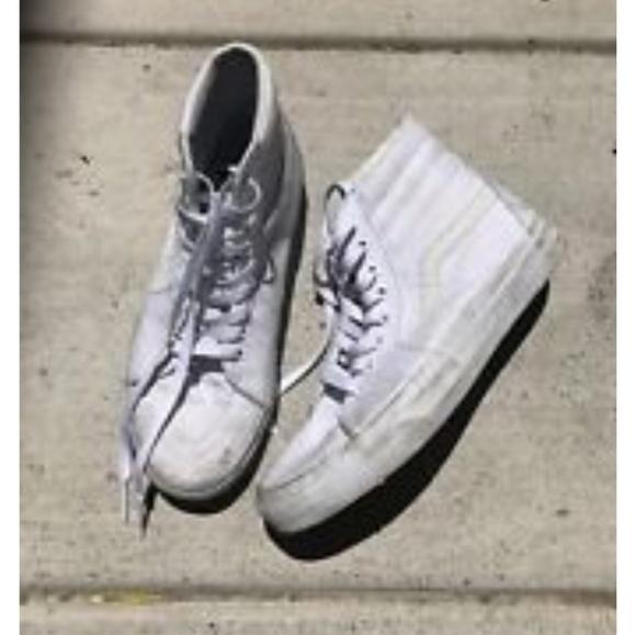 Vans Shoes | White High Tops | Poshmark